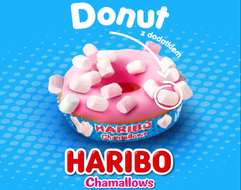 Donut z piankami CHAMALLOWS od HARIBO